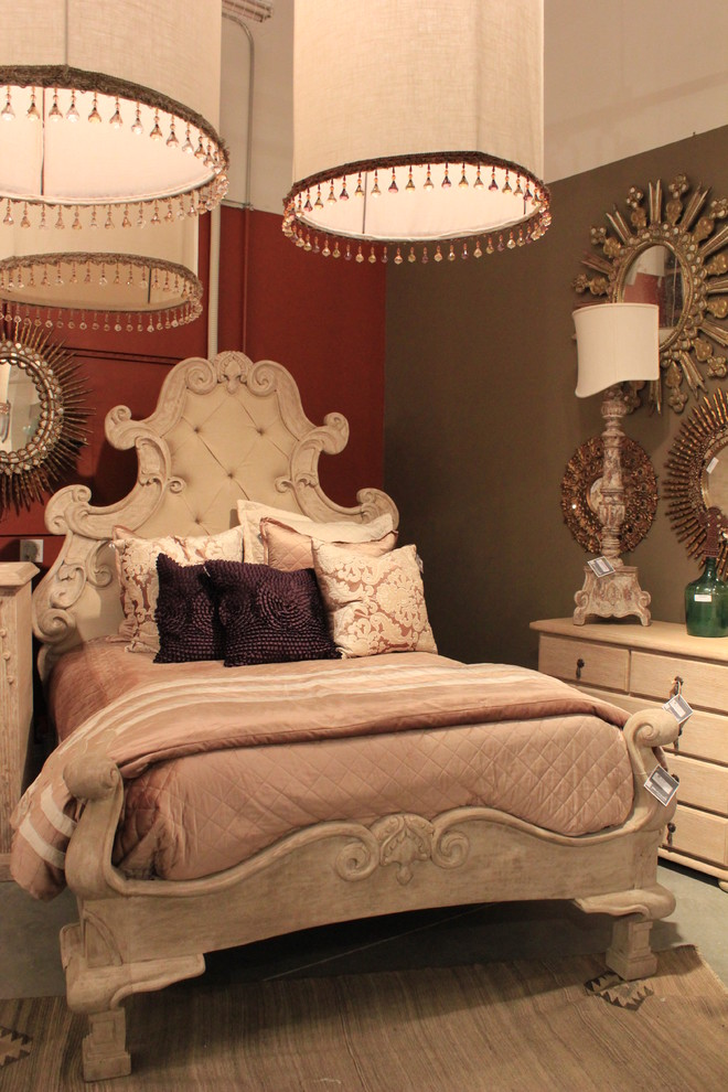 Ornate Bedroom Furniture. Ornate Bedroom Furniture Bed White Cabinets  Hanging Lamps Round Mirrors Wall Decorations
