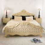 Ornate Bedroom Furniture Carpet Pillows Curtains Tables Lamps Eclectic Room