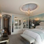 Ornate Bedroom Furniture Chandelier Wall Lighting Bedding Mirror Built In Drawers Closet Table Traditional Style