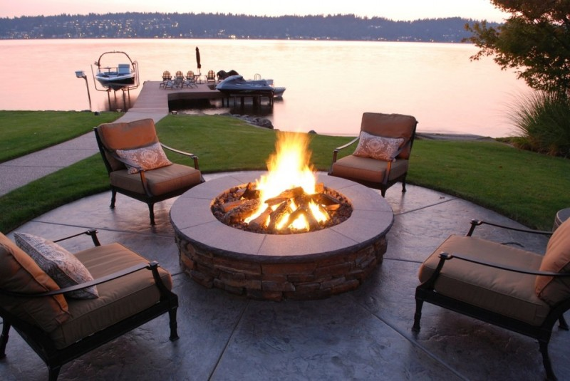 patio furniture seattle brown cushioned patio chairs fire pit patterned pillow