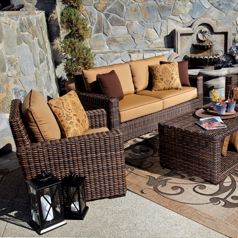 patio furniture seattle wicker outdoor sofa with cushion wicker outdoor chair with cushion and table
