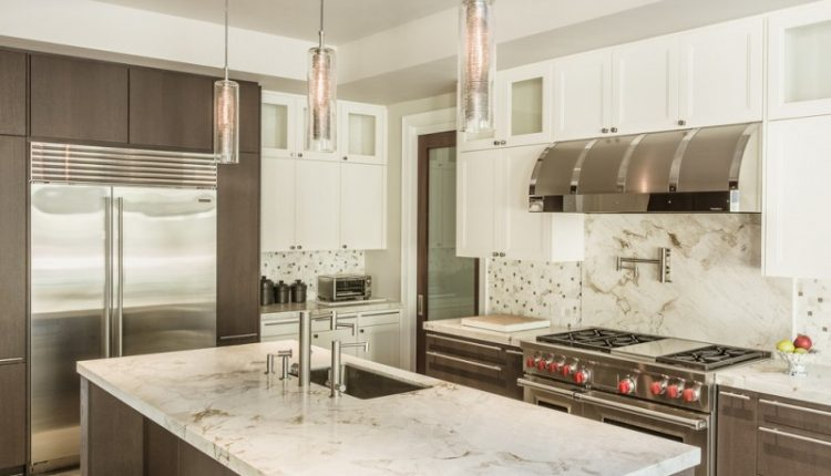 pendant lights for kitchens custom blown glass kitchen pendant marble countertop cilindrical faucet