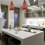 Pendant Lights For Kitchens Ruby Red Crackle Glass Mini Pendant Black Modern Bar Stools Mini Kitchen Glass Cover Cabinets