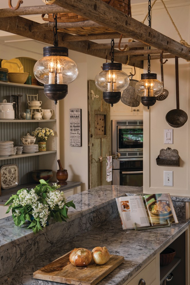 pendant lights for kitchens the ladder and onion lanterns grey marble countertop hanging kitchen ware storage