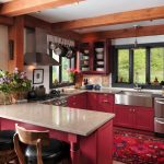 popular paint color for kitchens red kitchen rustic kitchen red patterned rug mini kitchen bar kitchen window