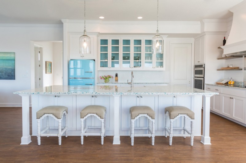 popular paint colors for kitchens beach style kitchen white cabinet white countertop white barstools