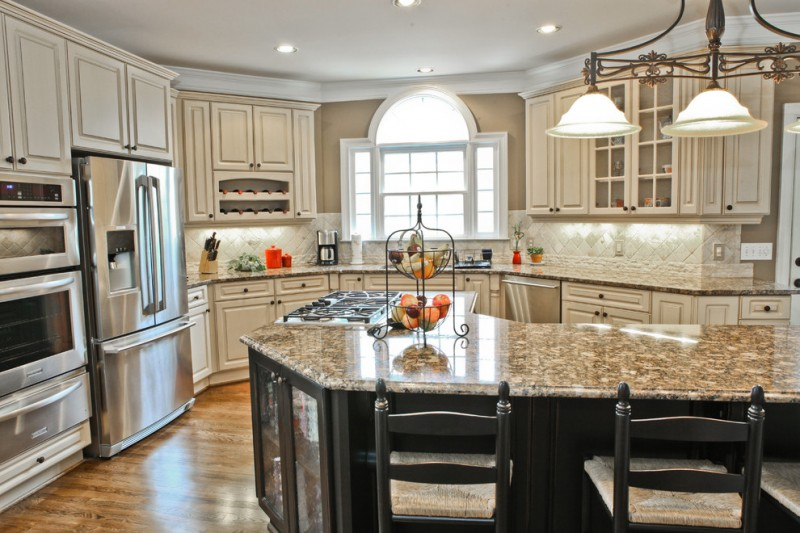 popular paint colors for kitchens traditional kitchen white glazed white sand kitchen marble countertop big chandelier