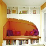 reading nook furniture low bunk homemade bed curved sest lounge sectional sofa bookcase padded wall