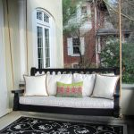 rope swing porch vintage porch classic front porch porch glider cushioned porch black flowery rug