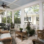 screened in patio ideas blue patterened ceiling rattan patio chairs and table classic sinind table set bronze ceiling fan