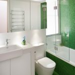 small bathtubs with shower green floor wall faucet sink towel rack glass door contemporary bathroom