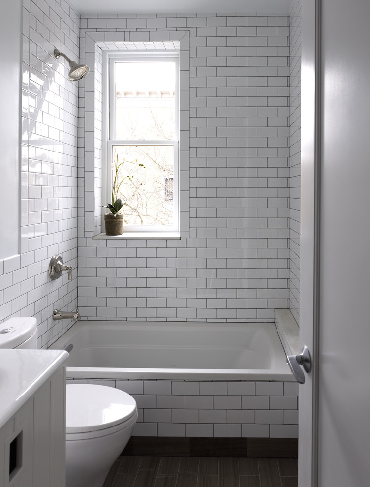 small bathtubs with shower toilet subway tiles window decorative plant contemporary style bathroom