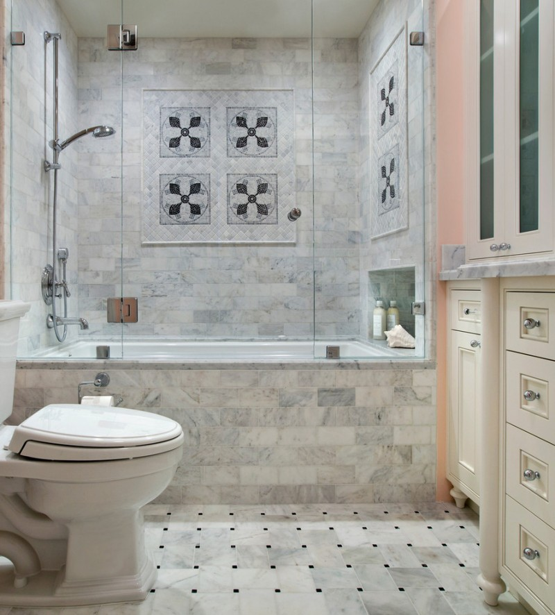 Great choices of fancy colors for a small bathroom decohoms Small bathroom designs with bath and shower