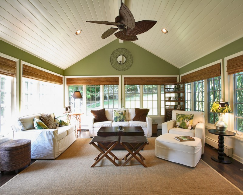 traditional sunroom furniture for sunroom unique ceiling fan cream rug comfy white couch wooden table