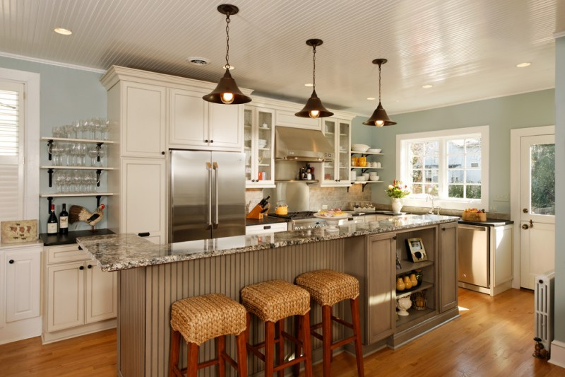 Awe inspiring kitchen ideas for small kitchens on a budget for Modern country kitchen design ideas