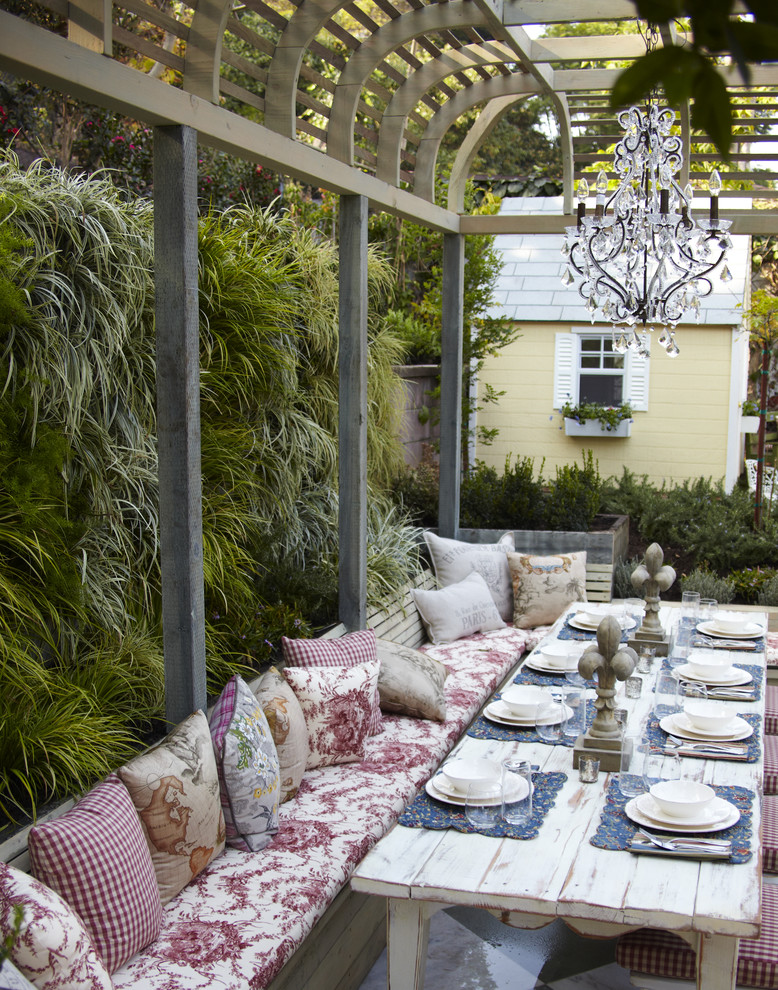 vertical garden plans benches narrow table chandelier patio cover throw pillows shabby chic style
