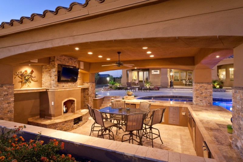 Pool And Outdoor Kitchen Design Ideas ~ Stunningly cool viking outdoor kitchen designs to be