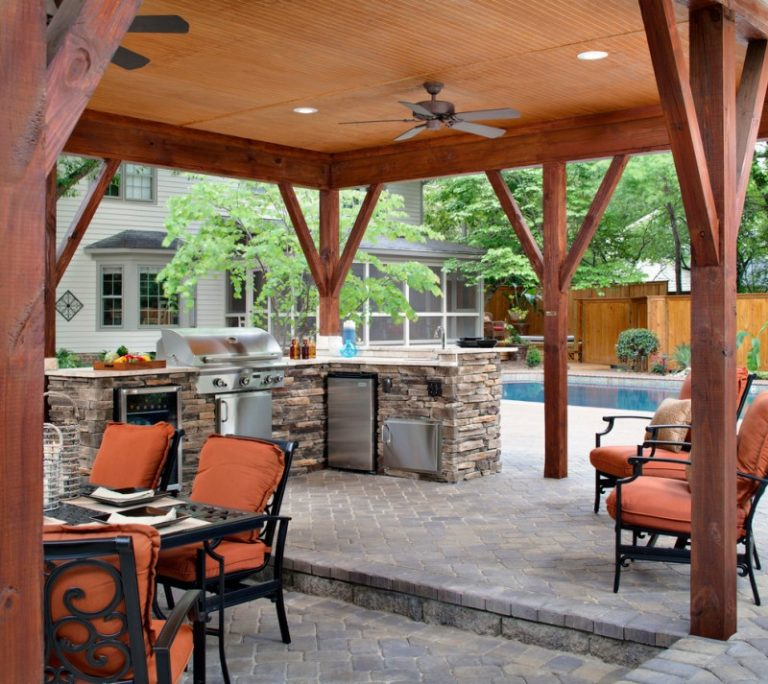 Commercial Bench Seating Pool Side Outdoor Kitchen: Stunningly Cool Viking Outdoor Kitchen Designs To Be