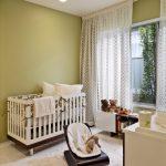 Ways To Hang Curtains Big Window Carpet Ceiling Light Books Midcentury Nursery Room