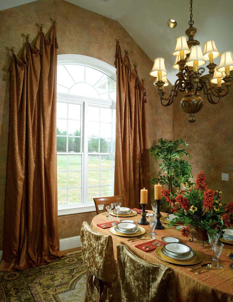 Ways To Hang Curtains Carpet Table Chairs Window Chandelier Ceiling Light Plates Decorative Plant Traditional Dining
