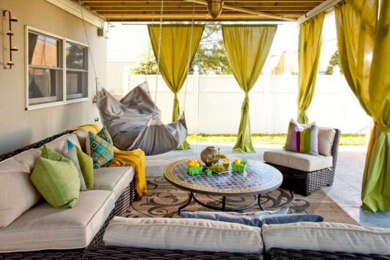 Beautiful Ways To Hang Curtains Sofa Pillows Chair Round Top Table Hammock Window  Carpet Eclectic Patio