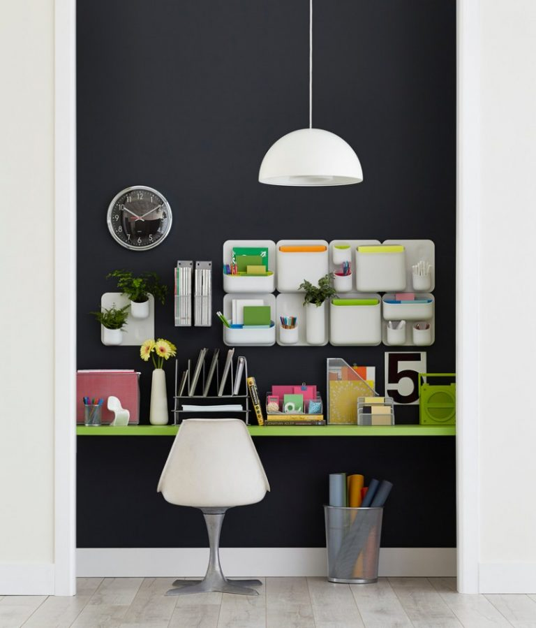 Dining Room Storage Ideas To Keep Your Scheme Clutter Free: Achieving Well Organized Home Office Through The Wall