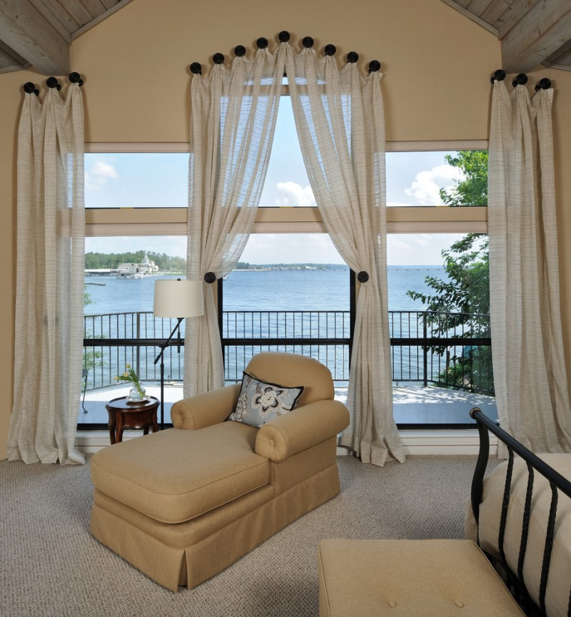 Fabulous window treatment ideas for large windows decohoms Drapery treatments ideas