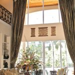 Window Treatment Ideas For Large Windows Giant Gold Drapery For Windows And Patio Door