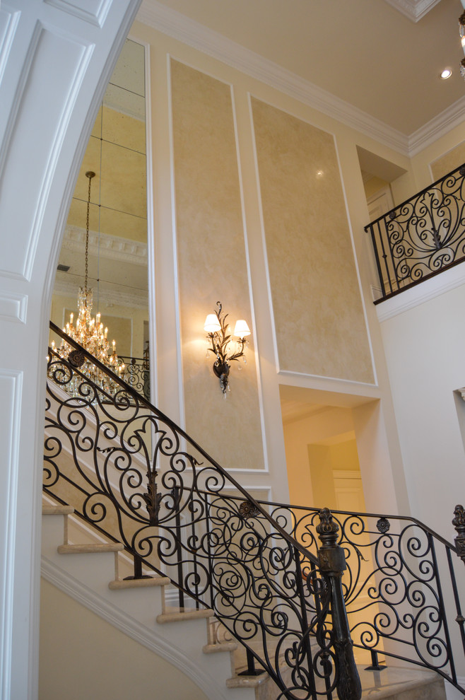 Wrought iron stair railings for stunning interior for Interior staircase designs