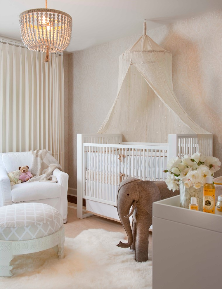 amazing girl bedroom themes. baby girl bedroom themes couch upholstered ottoman crib stuffed elephant  white cabinet pendant wallpaper carpet curtain Fabulous Baby Girl Bedroom Themes to Adopt Decohoms