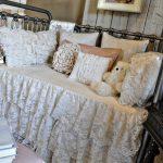 Baby Girl Bedroom Themes Crib Cover Bedding Stuffed Animals Wood Walls Stool Shabby Chic Design