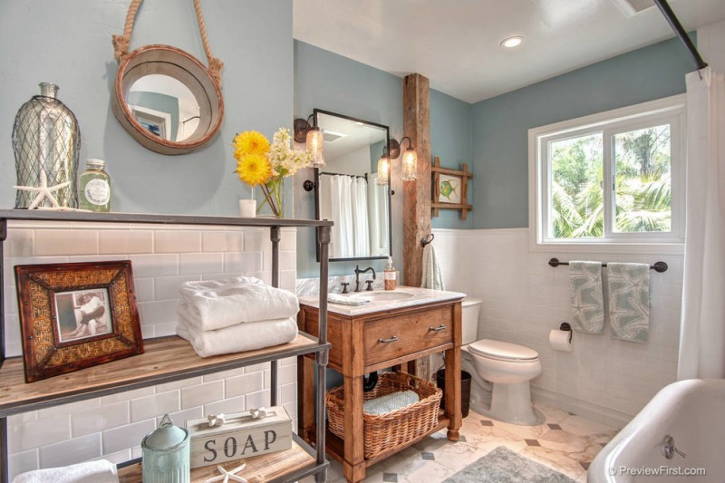 Costal Bathroom Decor: Wonderful Beach Themed Bathroom Decor Ideas