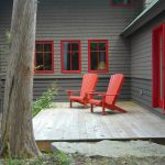 Best Deck Paint Grass Red Chairs Windows Dark Walls Rustic Deck