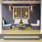 Best Deck Paint Pillars Railing Chairs Table Window Lamps Transitional Porch Purple Gray Mustard Yellow