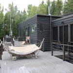 Best Deck Paint Railing Seating Windows Dark Walls Modern Style