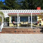 Best Deck Paint Railings Stairs Flowers Plants Chairs Table Windows Traditional Style Yellow White