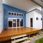 Best Deck Paint Stairs Wood Floor Blue Wall Beach Style White