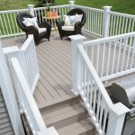 Best Deck Paint White Railing Chairs Small Table Transitional Deck