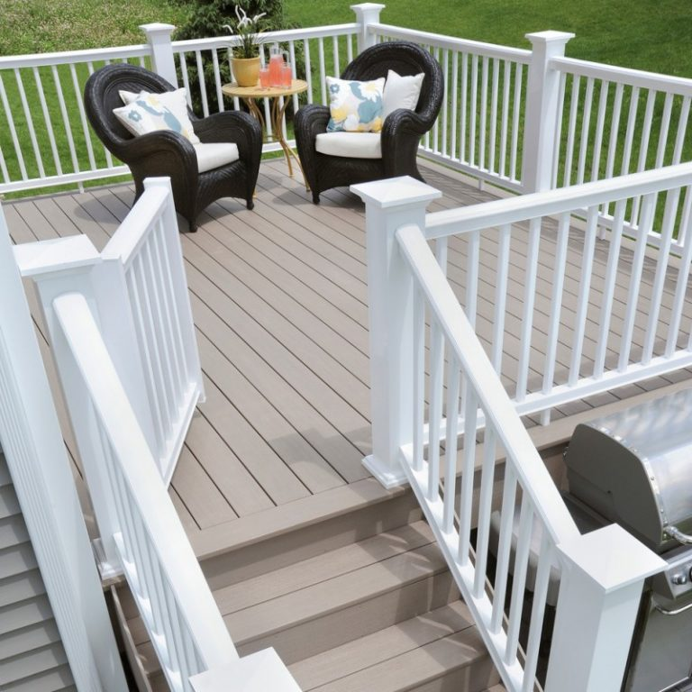 Best Deck Paint White Railing Chairs Small Table Transitional