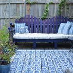 Best Deck Paint Wood Floor Fence Seating Pillows Small Table Traditional Style Blue White Purple