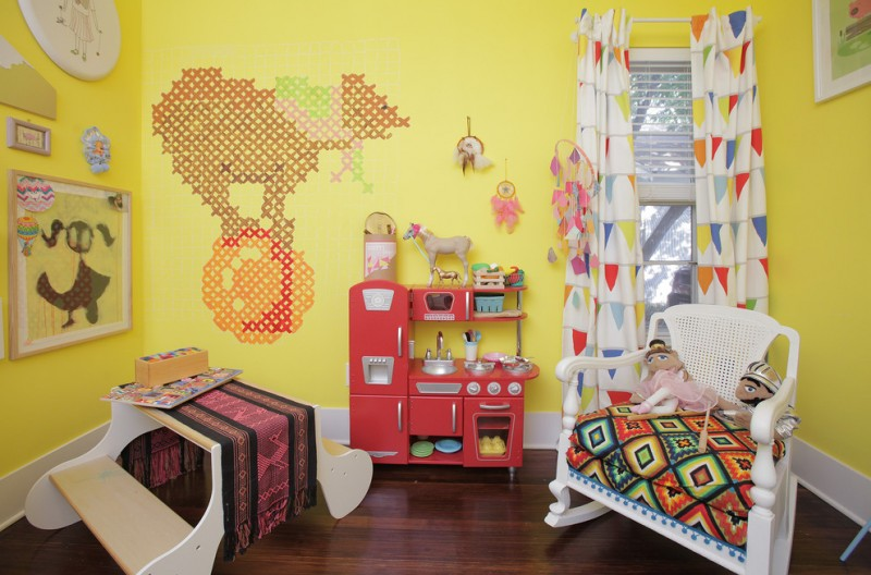 best play kitchens beautiful floor chair dolls curtains painting wall decor stove faucet sink eclectic kids room