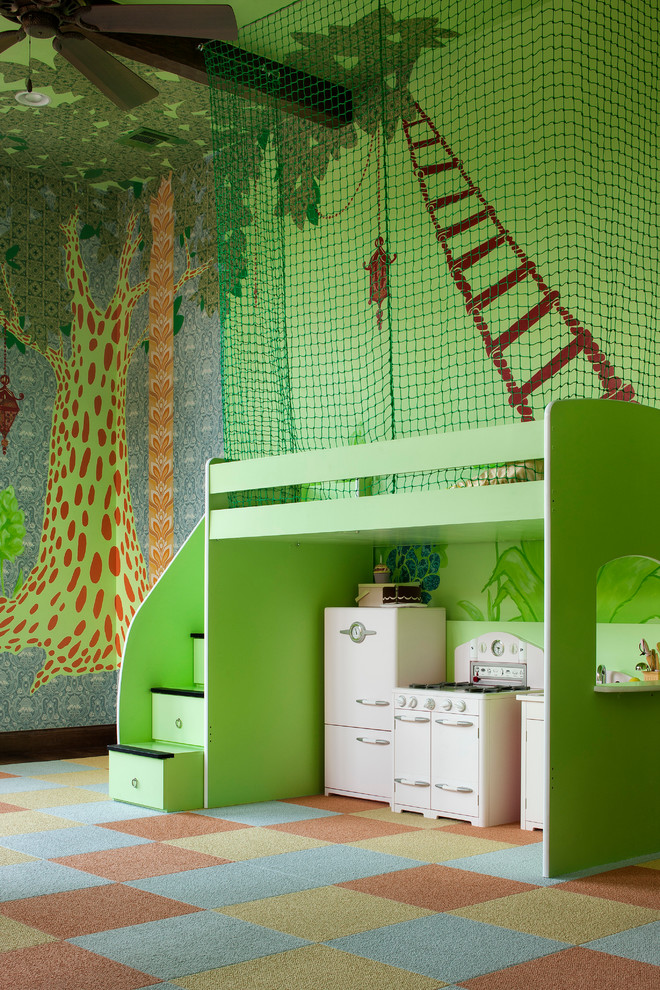 best play kitchens beautiful wall mini stove fridge stairs eclectic kids room dominated by green