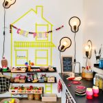 Best Play Kitchens Dark Countertop Shelves Table Cool Lamps Appliances Colourful Contemporary Kids Room