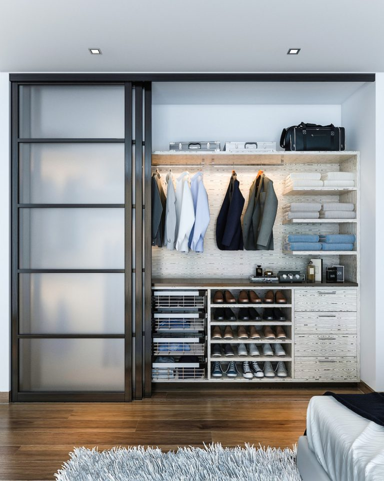 Amazing big walk in closets to draw closet design for Modelos de closets