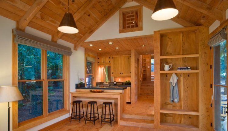 cabin designs and floor plans stools cool lamps built in shelves wood ceiling wall cabinets dark countertop eclectic kitchen