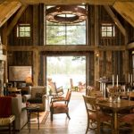 cabin designs and floor plans tables chairs wood floor lamps wooden walls carpet rustic living room