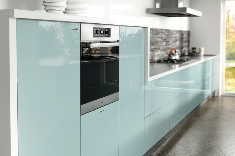 compact kitchen units metallic blue zurfiz kitchen grey floor straight  kitchen cabinet patio glass door minimalist