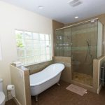 Cork Flooring For Bathroom Bathtub Shower Area Large Towel Holder Full Glass Shower Door Good Lighting Bathroom Window