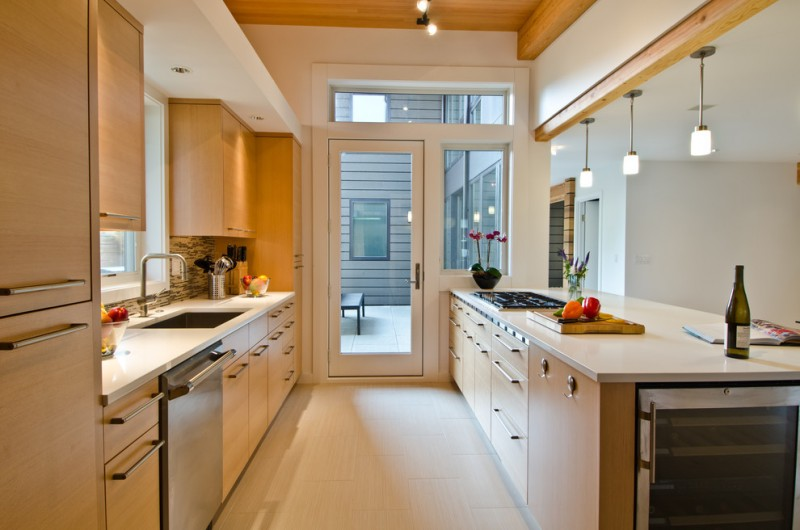 Elegant Design Your Own Kitchen Layout Vertical Grain Douglas Fir Cabinets  Pennington Satin Nickel Bar Pull Anderson
