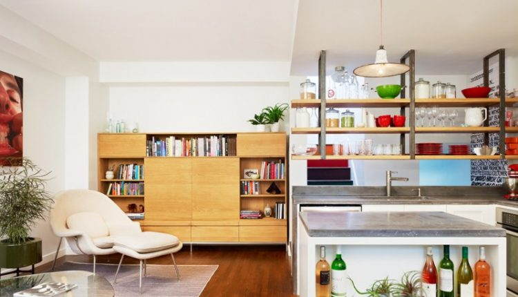 hanging shelves from ceiling cabinet hardwood floor lounger footrest bookshelves table pendant sink contemporary design